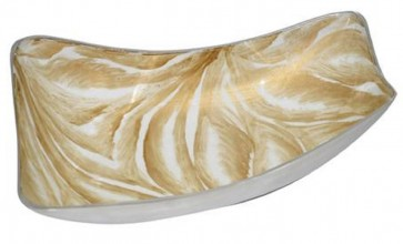 Bowl rectangular    BrownCream marvel