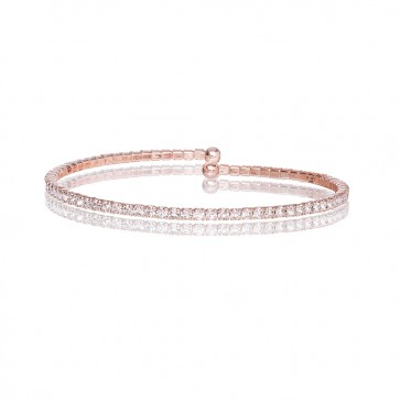 Mazali Jewellery Silver Plated Single Wrap Pave Bracelet ROSE GOLD ROSE GOLD