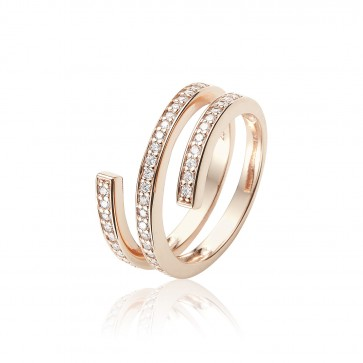 Mazali Rose Gold swirl ring