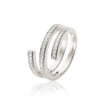 Mazali silver swirl ring