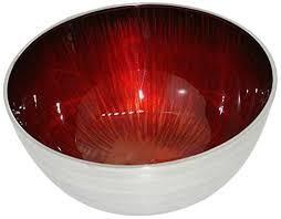 Deep Round Red Bowl