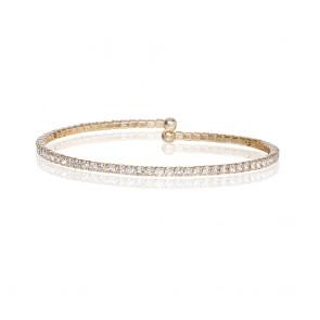 Mazali Jewellery Silver Plated Single Wrap Pave Bracelet GOLD GOLD