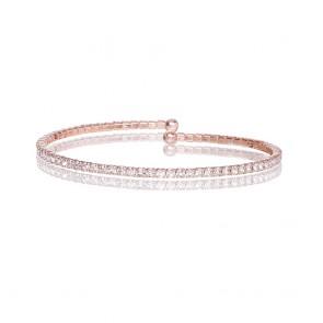 Mazali Jewellery Silver Plated Single Wrap Pave Bracelet ROSE GOLD ROSE GOLD