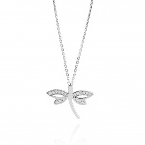 Mazali Jewellery Sterling Silver Dragonfly Pendant Necklace  RHODIUM