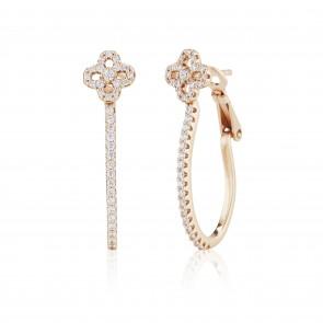 Mazali Jewellery Sterling Silver Flower Hoop Earrings  ROSE GOLD ROSE GOLD