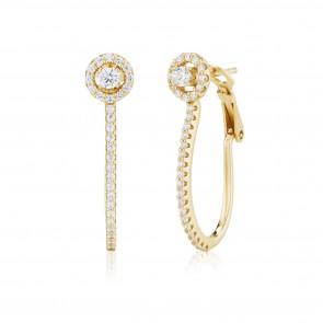 Mazali Jewellery Sterling Silver Circle Hoop Earrings  GOLD GOLD