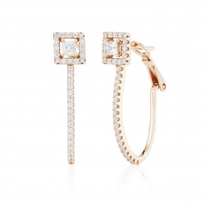 Mazali Jewellery Sterling Silver Circle Hoop Earrings  ROSE GOLD ROSE GOLD