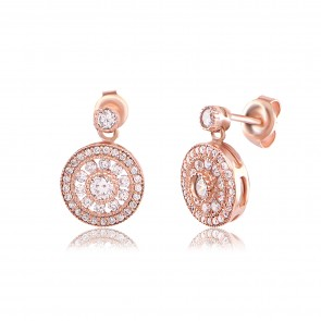 Mazali Stylish Earrings Rose Gold