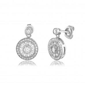 Mazali Stylish Earrings Silver