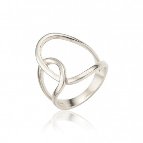 Mazali Fugure ring size 8 Silver