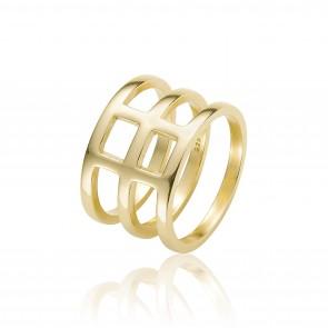 Mazali 3 Hoop Ring Size 7 Gold