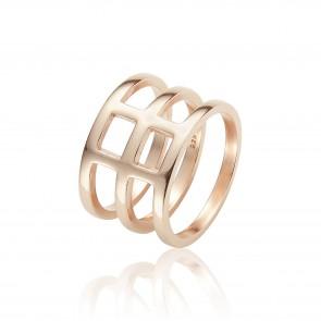 Mazali 3 Hoop Ring Size 7 Rose Gold
