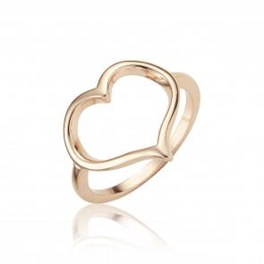 Mazali Jewellery Sterling Silver Open Heart Ring - Size P RA5347/SIL/8 ROSE GOLD ROSE GOLD