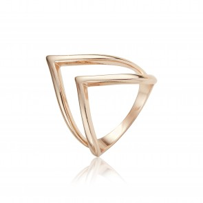 Mazali 2 traingle layer ring Rose Gold