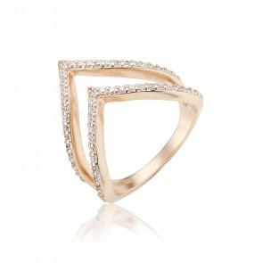 Mazali Rose Gold Triangle Ring