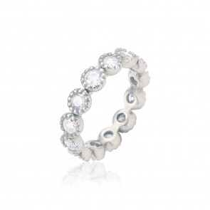 Mazali Diamond Ring Silver