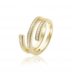 Mazali Gold swirl ring