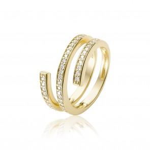 Mazali Gold swirl ring