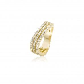 Mazali Curved Ring Gold