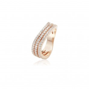 Mazali Curved Ring Rose Gold