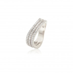 Mazali Curved Ring Silver