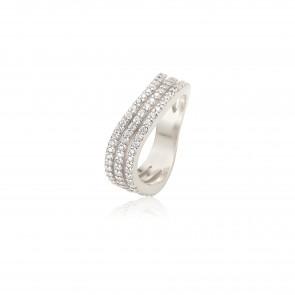 Mazali Curved Ring Silver